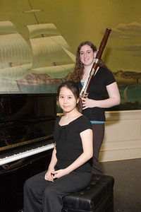 Ji Hea Hwang, piano, and Katie Fitzgibbon, bassoon -- 2008 HSO concerto competition (1st annual) winners and organizer
