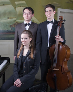 Mengyu Lan, piano,  Philip Wolf, cello, and Larissa Woskob, coordinator -- 2009 Johns Hopkins Concerto Competition winners