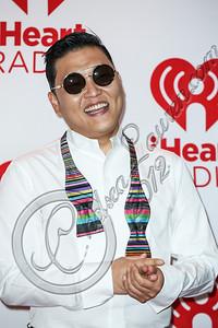 LAS VEGAS, NV - SEPTEMBER 21:  Singer / songwriter Psy arrives at iHeartRadio Music Festival press room at MGM Grand Garden Arena on September 21, 2012 in Las Vegas, Nevada.  (Photo by Chelsea Lauren/WireImage)