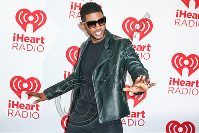 LAS VEGAS, NV - SEPTEMBER 21:  Singer Usher Raymond arrives at iHeartRadio Music Festival press room at MGM Grand Garden Arena on September 21, 2012 in Las Vegas, Nevada.  (Photo by Chelsea Lauren/WireImage)