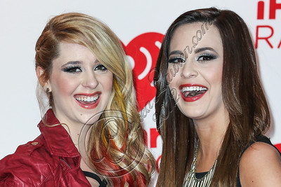 LAS VEGAS, NV - SEPTEMBER 21:  Recording artists Megan Mace and Liz Mace of Megan & Liz arrive at iHeartRadio Music Festival press room at MGM Grand Garden Arena on September 21, 2012 in Las Vegas, Nevada.  (Photo by Chelsea Lauren/WireImage)
