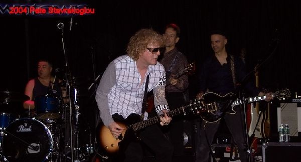 (L to R) Steve Holley, Ian Hunter, Graham Maby, and James Mastro