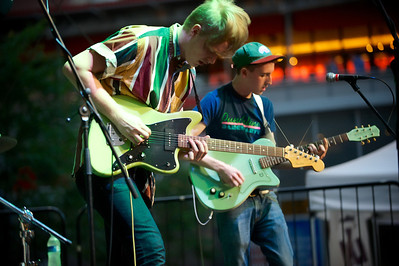 The Yugos perform Friday night at Fountain Square