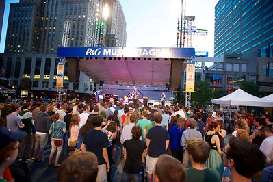 Kicking off the MidPoint Indie Summer concert series at Fountain Square