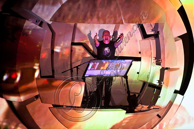 "HOLLYWOOD, CA - MAY 12:  Amit ""Duvdev"" Duvdevani of Infected Mushroom performs at Avalon on May 12, 2012 in Hollywood, California.  (Photo by Chelsea Lauren/Getty Images)"