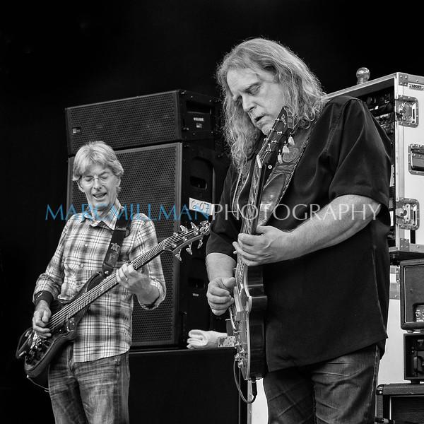 Phil & Warren (B&W)<br /> <br /> Phil Lesh & Friends @ Forest Hills Stadium (Sun 9/21/14)