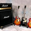 Marshall and Gibson - no better match.<br /> JCM -900, Classic 1960, Standard and 73' Deluxe Les Pauls