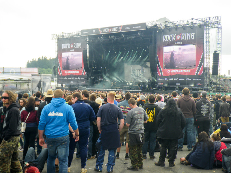 The crowd during Lamb of God