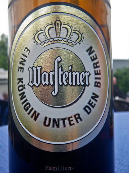 Warsteiner, the local beer