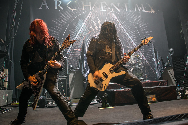 Michael Amott & Sharlee D'Angelo (Arch Enemy) @ Le Splendid - Lille - France