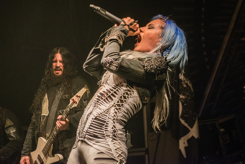 Alissa White-Gluz (Arch Enemy) @ Le Splendid - Lille - France
