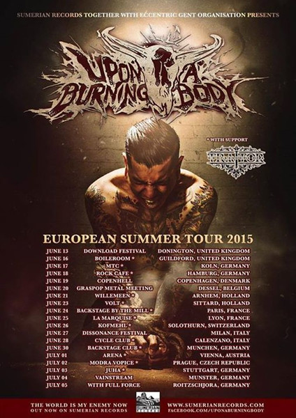 Supporting Act Upon A Burning Body - European Tour Summer 2015 @ Poppodium Volt - Sittard - NL