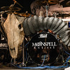 Miguel Gaspar's drumkit (Moonspell) @ Biebob - Vosselaar - Belgium/Bélgica