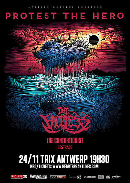 Protest The Hero + The Safety Fire + The Contortionist - Destrage @ Trix Club - Antwerp/Amberes - Belgium/Bélgica