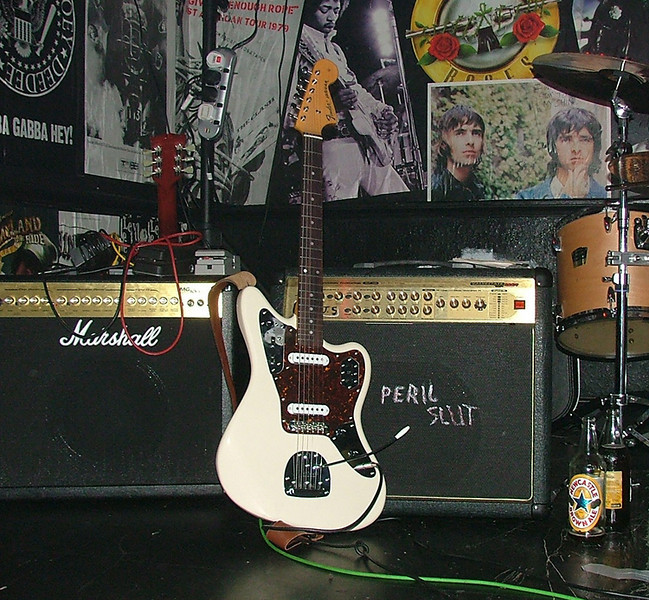 A Fender Jaguar belonging to Newcastle band The Peril