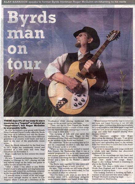 Roger McGuinn Sunday Sun
