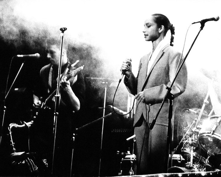 Sade @ Newcastle City Hall 1984 (the first photo I ever had published)