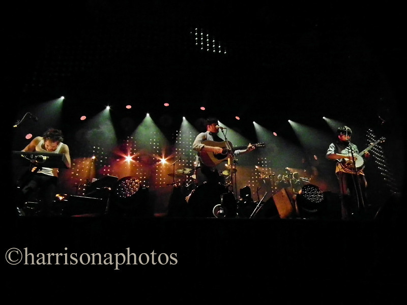 Mumford and Sons at Newcastle Metro Arena; December 2012