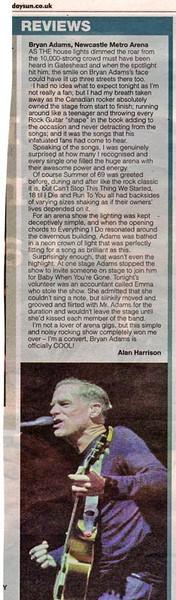 Bryan Adams Arena review