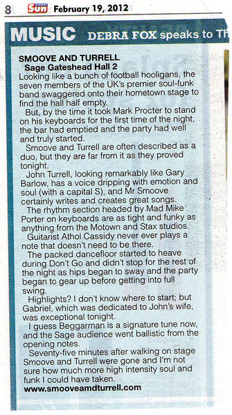 Smoove and Turrell Sage Gateshead review from Sunday Sun