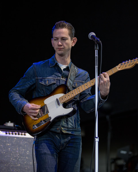 June 23, 2018 JD McPherson at the Outlaw Music Festival in Indianapolis, Indiana.