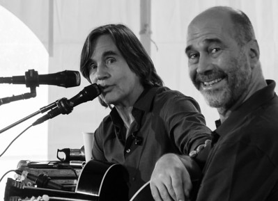 Jackson Browne and John Hall.  2011 Clearwater sponsors concert.
