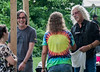 Anna Canoni, Jackson Browne, Jackie Guthrie and Arlo Guthrie at the 2011 Clearwater Festival.