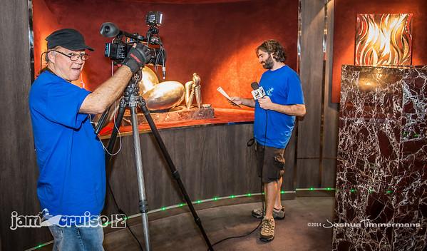 Jam Cruise 12 - Jam Cruise TV Interview - 1/4/14 - MSC Divina - Miami, FL. ©Josh Timmermans 2014