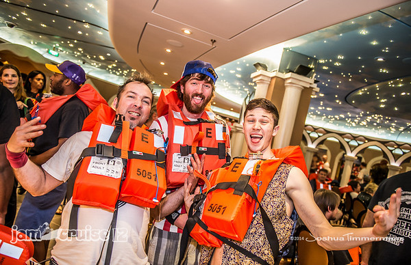 Jam Cruise 12 - Lifevest and Emergency Drill - 1/4/14 - MSC Divina - Miami, FL. ©Josh Timmermans 2014
