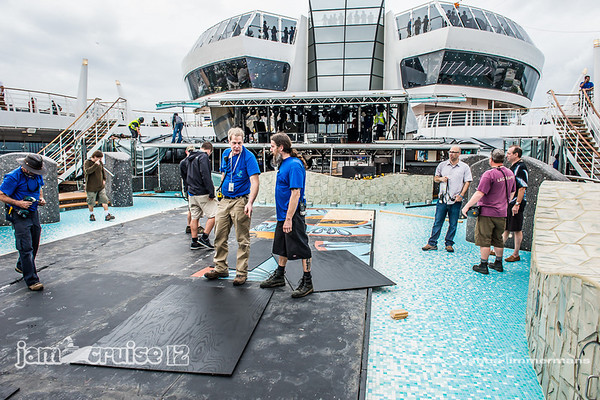 Jam Cruise 12 - Production & Stage Set-Up - 1/4/14 - MSC Divina - Miami, FL. ©Josh Timmermans 2014