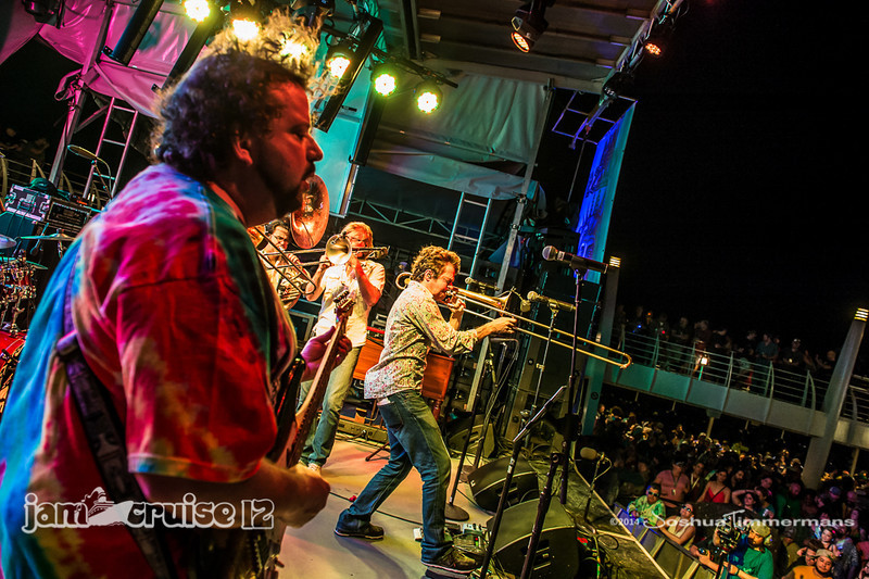 Bonerama - Sail Away Party - Pool Deck Stage - Jam Cruise 12 - 1/4/14 - MSC Divina. ©Josh Timmermans 2014