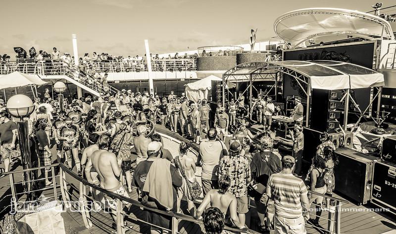 WTFunk Games - Jam Cruise 12 - Pool Deck - 1/5/14 - MSC Divina. ©Josh Timmermans 2014