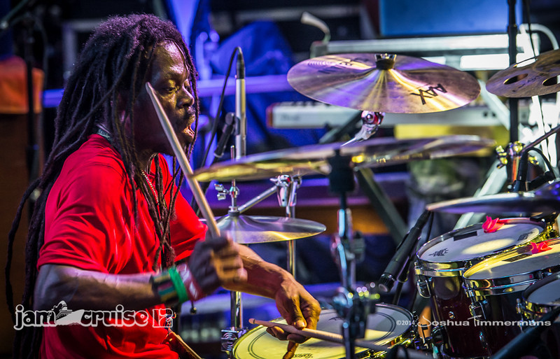 The Wailers sail away from Falmouth Jamaica - Jam Cruise 12 - Pool Deck Stage - 1/6/14 - MSC Divina. ©Josh Timmermans 2014