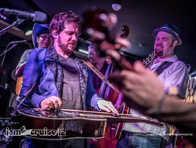 Infamous Stringdusters - Purple Power Night - Jam Cruise 12 - Black & White Lounge - 1/6/14 - MSC Divina. ©Josh Timmermans 2014