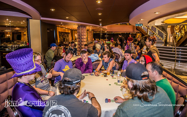 Texas Hold'em Tournament - Jam Cruise 12 - The Black Crab Restaurant - 1/6/14 - MSC Divina. ©Josh Timmermans 2014