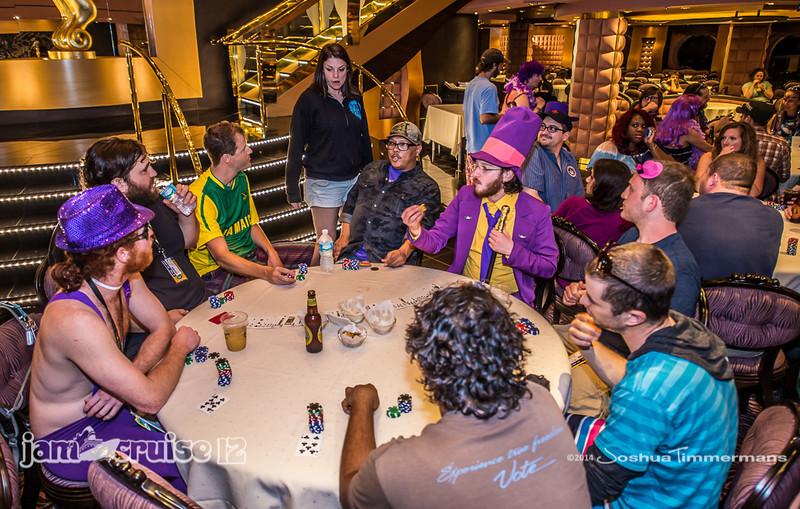 Texas Hold'em Tournament - Jam Cruise 12 - The Black Crab Restaurant - 1/6/14 - MSC Divina. ©Josh Timmermans 2014