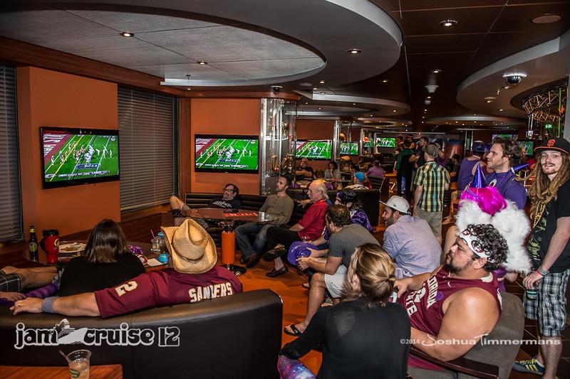 Sports Lounge - Jam Cruise 12 - 1/6/14 - MSC Divina. ©Josh Timmermans 2014