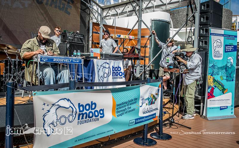 Bob Moog Foundation Pooside Demo - Jam Cruise 12 - Magic Hat Solar Stage - 1/7/14 - MSC Divina. ©Josh Timmermans 2014