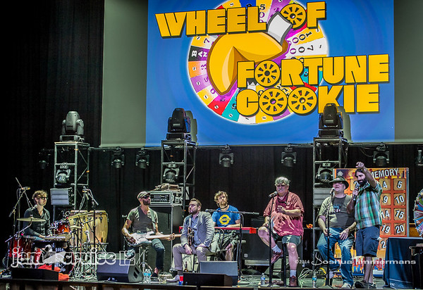 Wheel of Fortune Cookie with Col Bruce, John Popper & The New Mastersounds House Band - Jam Cruise 12 - Pantheon Theater - 1/7/14 - MSC Divina. ©Josh Timmermans 2014
