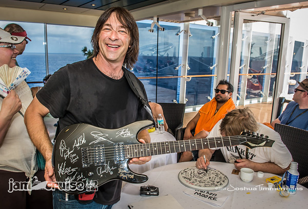 Artist Autograph Signings - Jam Cruise 12 - Covered/Retractable Roof Pool - 1/7/14 - MSC Divina. ©Josh Timmermans 2014