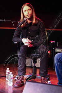 LOS ANGELES, CA - MAY 03:  Guitarist James Valentine of Maroon 5 attends the MI conversation series at Musicians Institute Concert Hall on May 3, 2012 in Los Angeles, California.  (Photo by Chelsea Lauren/WireImage)