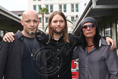 LOS ANGELES, CA - MAY 03:  (L-R) Jude Gold, guitarist James Valentine of Maroon 5  and producer Native Wayne Jobson attend the MI conversation series at Musicians Institute Concert Hall on May 3, 2012 in Los Angeles, California.  (Photo by Chelsea Lauren/WireImage)
