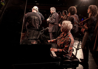 Janis Ian, David Amram, Power of Song and Alana Amram,  sound check, Symphony Space, NY.