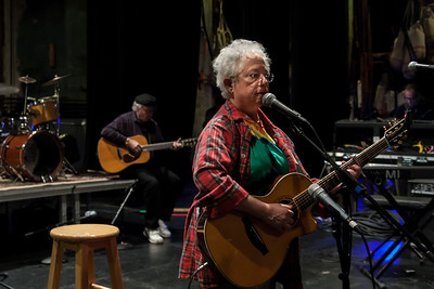 Janis Ian doing her sound check at Music Hall in Tarrytown, NY. That's Tom Paxton in the background.