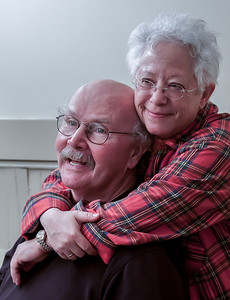 Janis Ian and Tom Paxton in the green room at Music Hall, Tarrytown, NY.