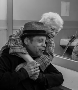 Janis Ian and Garland Jefferys in the green room, Music Hall, Tarrytown, NY.