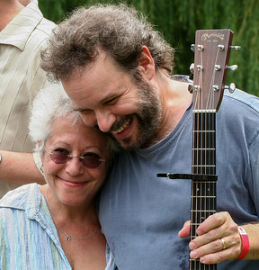 Janis Ian and John Gorka at the Clearwater festival.