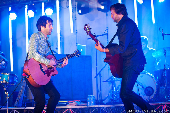 "Stephen Mason and Matt Odmark of Jars of Clay perform in support of ""The Shelter"" on October 23, 2010 at Countryside Christian Center in Clearwater, Florida"