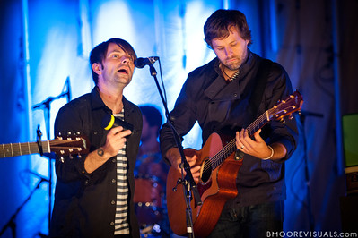 """Charlie Lowell and Matt Odmark of Jars of Clay perform in support of """"The Shelter"""" on October 23, 2010 at Countryside Christian Center in Clearwater, Florida"""