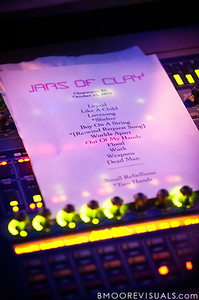 Jars of Clay's set list for their October 23, 2010 performance at Countryside Christian Center in Clearwater, Florida
